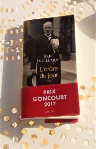 Dédicace d'Eric Vuillard, Goncourt 2017